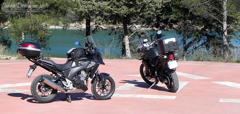 CB500X con amigas Embalse-iznajar
